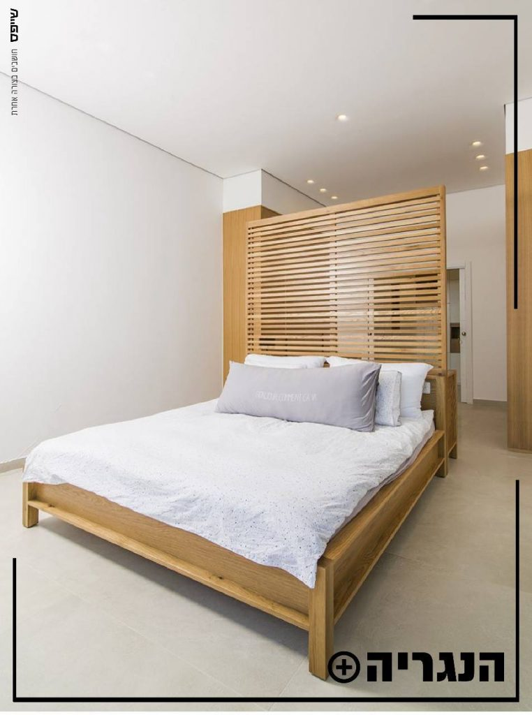 ארון בגדים בשילוב מיטה ושידת איפור בעץ טבעי